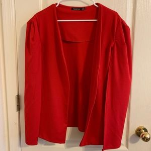 Boohoo red cape jacket Polyester holiday 14